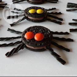 Photo de recette : Araignées minute au chocolat