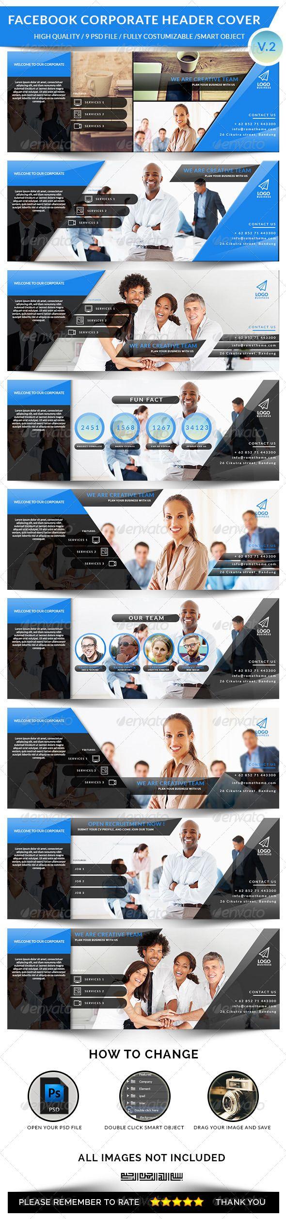Facebook Corporate Header Cover V.2