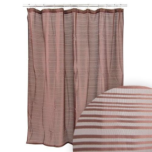 Harman Sensei Sheer Stripe Chocolate Shower Curtain