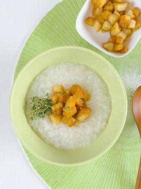野菜てんぷら中華粥|レシピブログ