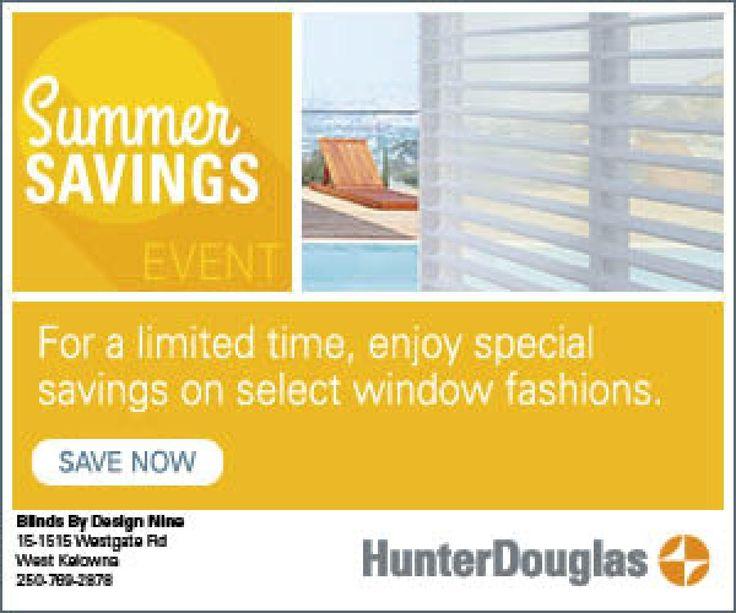 Summer Savings Event - June 1 - August 31, 2017