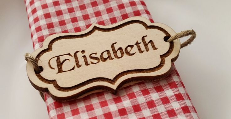 Pack of 10 personalised wooden name tags place cards rustic wedding laser cut and engraved by Stylishmoments on Etsy
