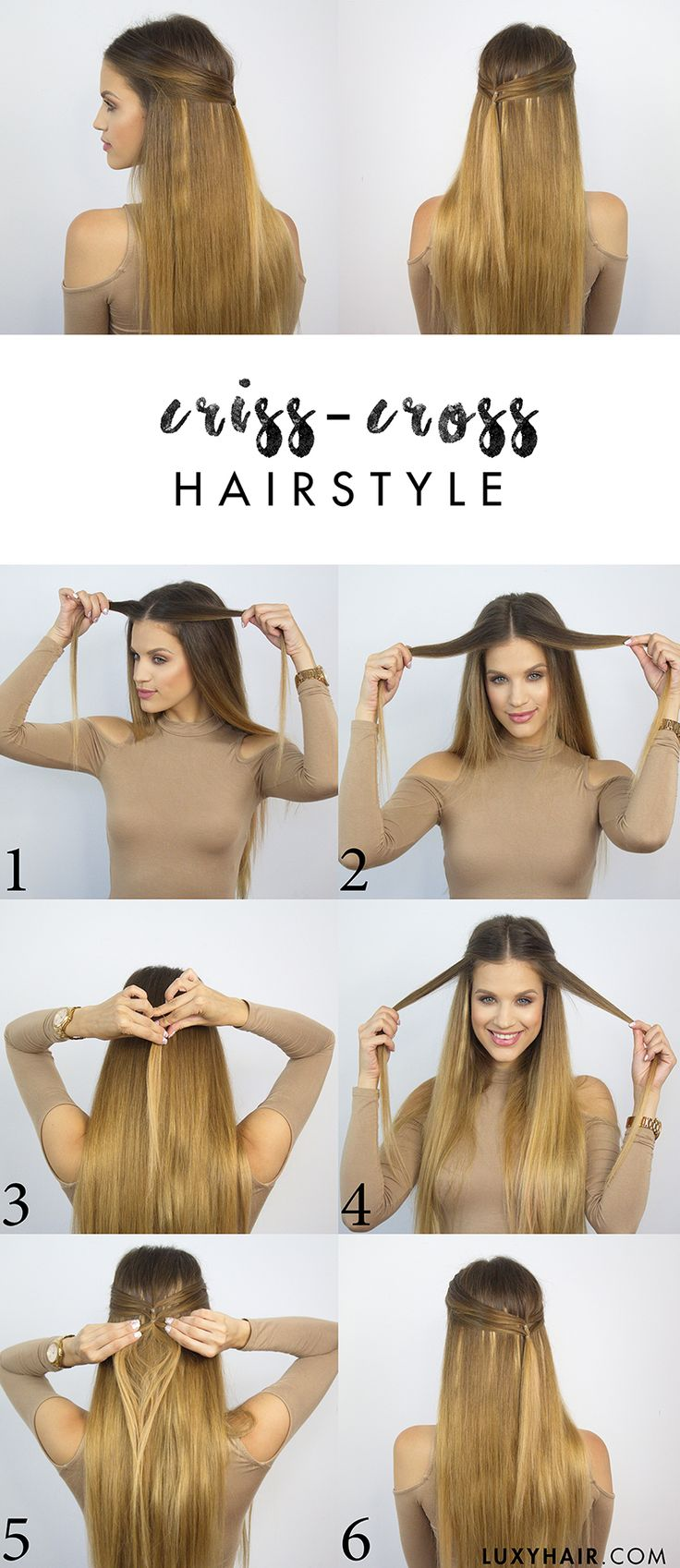 back to school hairstyle criss cross hairstyle