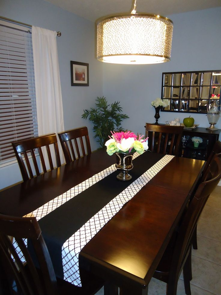 Just A Couple Accessories Make This Table Look Dressed The Flowers And Run Add Nice Touch To Dining DIY Tutorial Runner