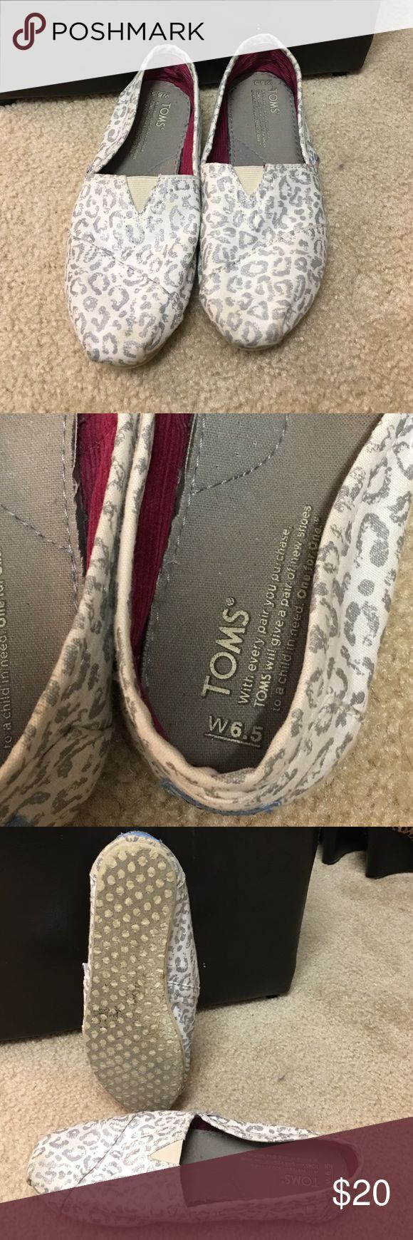 Leopard Toms Snow White leopard Toms. They are worn but in good condition.  🚫❌no trades🚫❌ TOMS Shoes