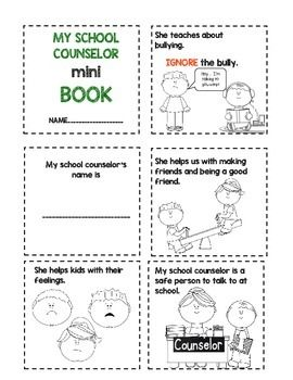 Meet the school counselor mini book