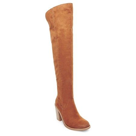 Women's dv Marilyn Over the Knee Fashion Boots - Saddle Brown 5.5 : Target