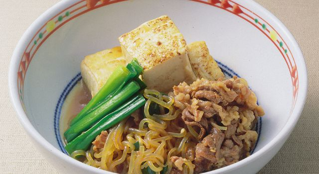 牛肉と糸こんにゃくのすき焼き風(すき焼き煮)レシピ   ボブとアンジー