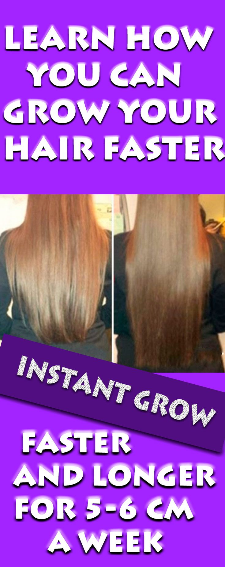 Every woman's dream is to have a healthy, long and shiny hair. Still, many women who have problems with thinning hair, fail to put long hair. Fortunately, you can deal with this problem by using this trick at home and so it will help you to grow your hair faster and longer by 5-6 cm per week.