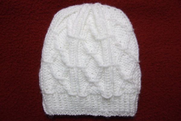Diamond Trellis Baby Hat - Baby Clothing Knitted My ...