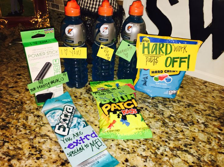 "Basketball boyfriend ""care package"""