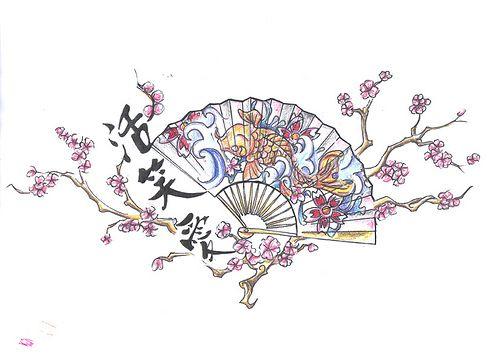 Chinese Fan Tattoo Design    http://www.tattoodesignslive.com/
