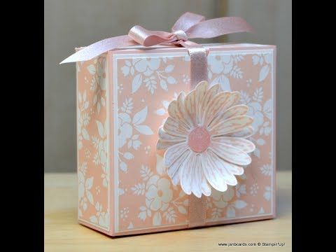 No.293 - Daisy Flip Top Gift Box - JanB UK Stampin' Up! Demonstrator Independent - YouTube
