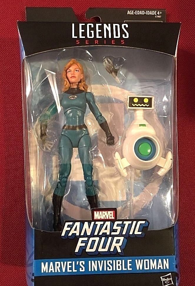 "INVISIBLE WOMAN Marvel Legends Fantastic Four Exclusive 6"" Figure w/ Herbie  #Hasbro"