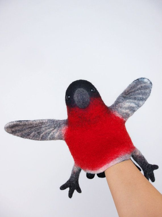 great Christmas gift the bullfinch hand puppet wet by bibabo