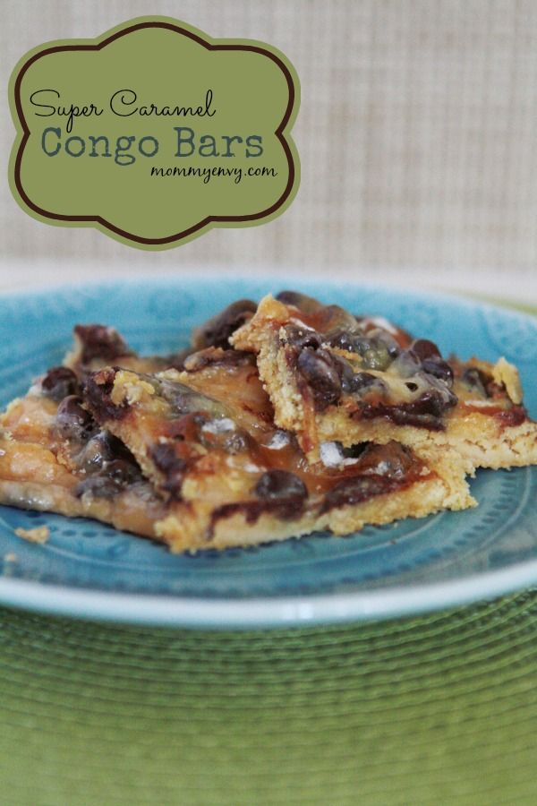 Congo bars, Congo and Caramel on Pinterest