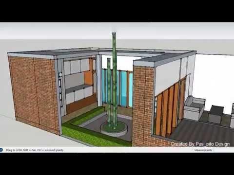 desain rumah modern minimalis tanah kavling 6x12 dengan