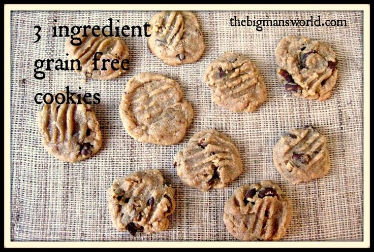 simple 3 ingredient grain free cookie -  sweet and salty