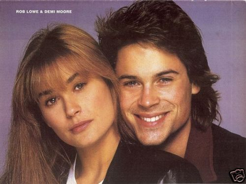 Rob Lowe Amp Demi Moore Pinup From 80s St Elmos Fire In