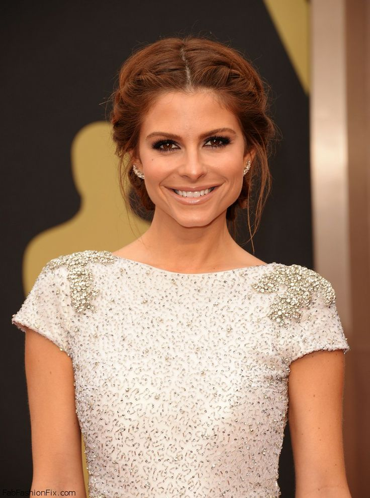 Maria Menounos with braided hairstyle at the Oscars 2014.