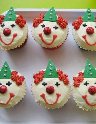 Nom Nom Cupcakery, Nailsworth - Clown Cupcakes