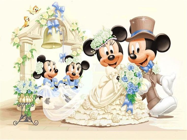 Mickey and Minnie Wedding | Tale fantasy flower lover mickey mouse minnie mouse…