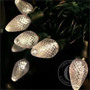 C7 Warm White LED Christmas Light Strings