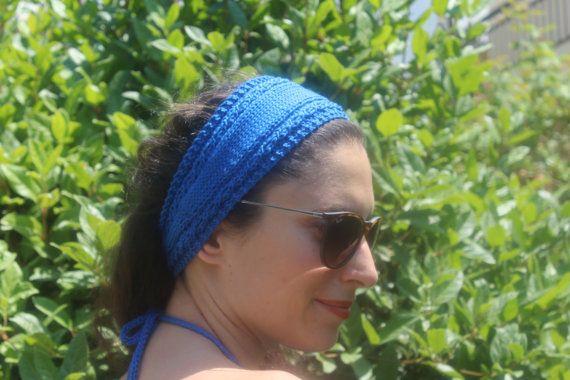 Royal  Blue Headband  Royal Blue Turband  Hand by ManibusFacta
