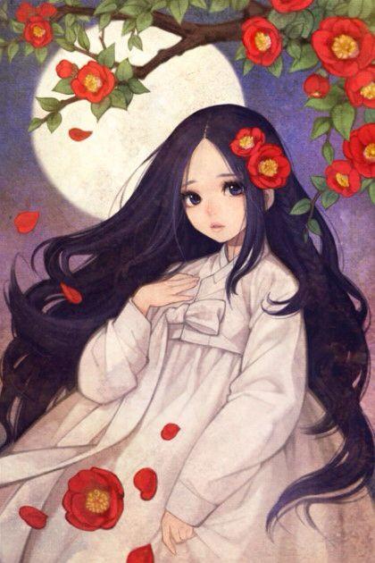 "Nayoung Wooh (Obsidian), ""Mandrake Girls - Ghost Girl Camellia"""
