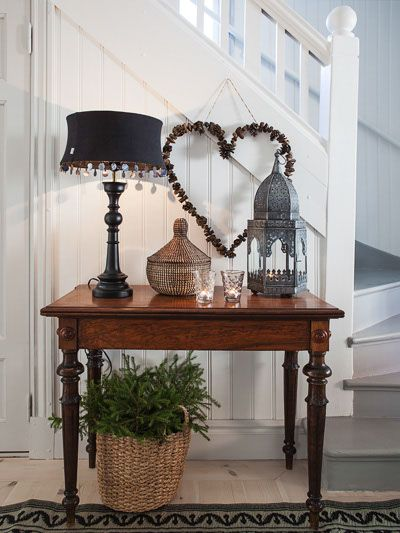 would love to replace my rickety, 3-legged side table with a cute and sturdier one such as this next to the stairwell