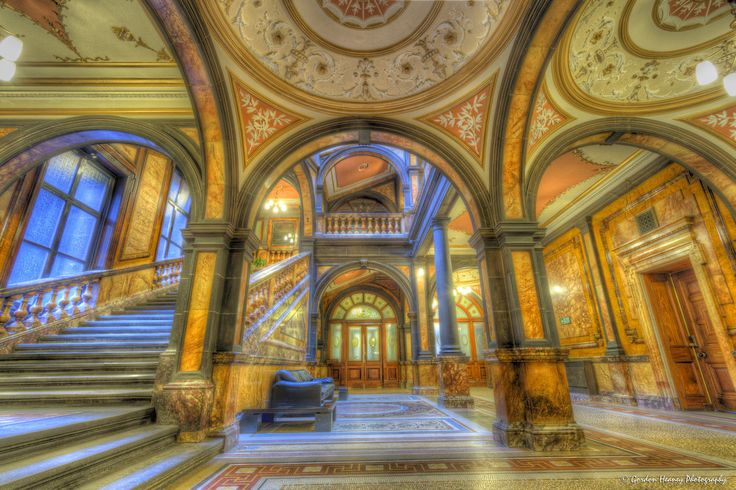inside glasgow city chambers - amazing what slave money can buy!