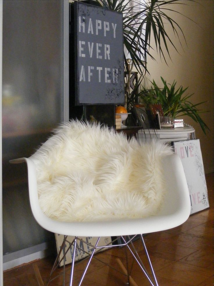 Lovely Whether Your Chairs Are New Or Worn, Throwing An Inexpensive Faux Fur.  Sheepskin BlanketIkea RugFaux ...