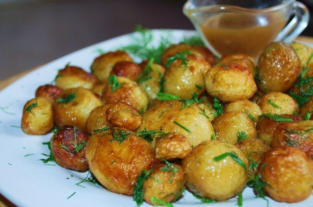 New Potatoes with Dill... one of my favorite dishes while I was in Georgia!