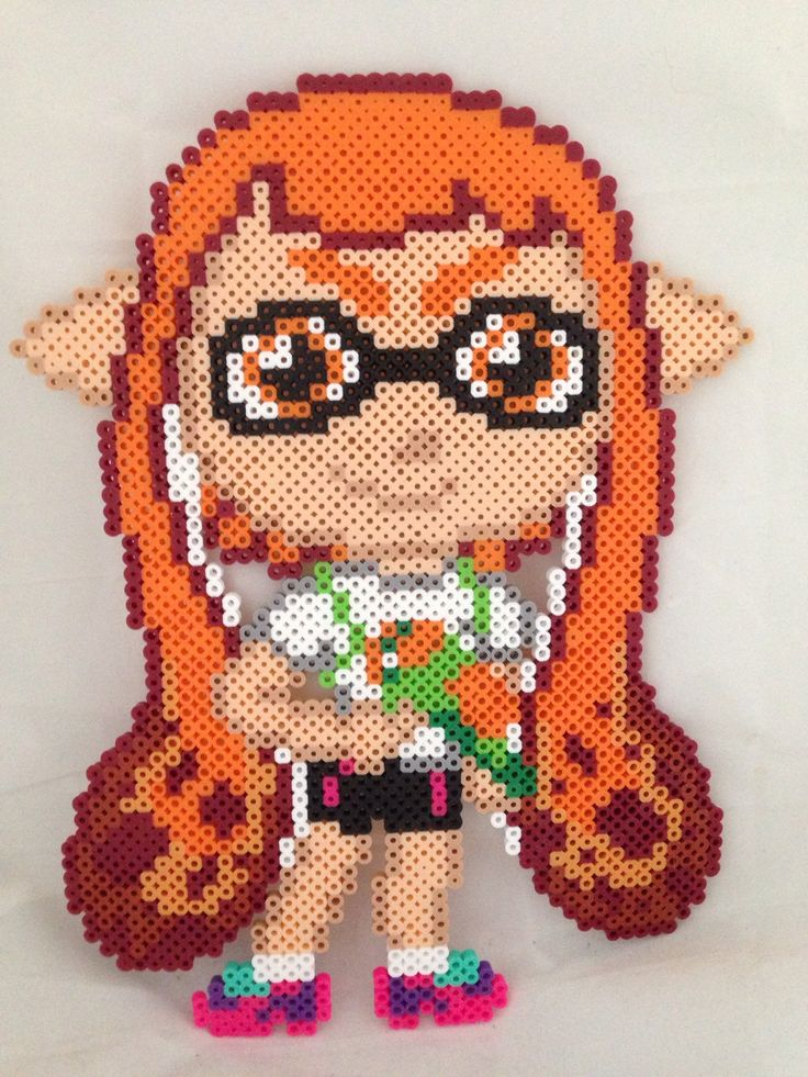 The Perler Pony Chibi Perler Splatoon Girl Or Boy Inkling