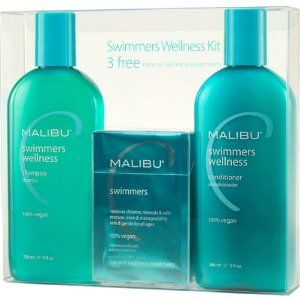 Malibu Hair Care Swimmers Wellness System Kit by Malibu Wellness. $19.64. 100% Genuine. Salon Professional hair care product. Superior to any other swimmers' hair care, this advanced and exclusive vitamin complex nourishes, moisturizes, strengthens and protects every strand of your hair. Experience radiant shine, body and manageability while preventing damage and discoloration c. Save 32%!