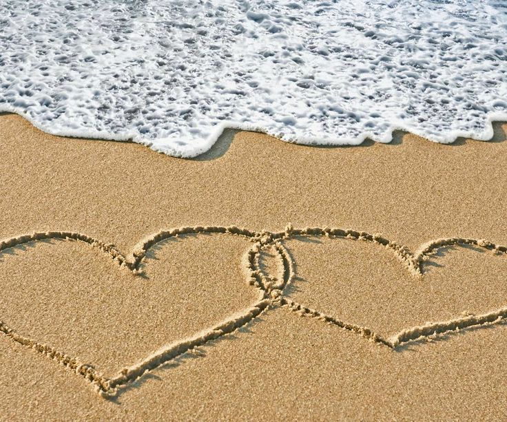 Double Heart in the sand! | Love | Pinterest | Sands ...