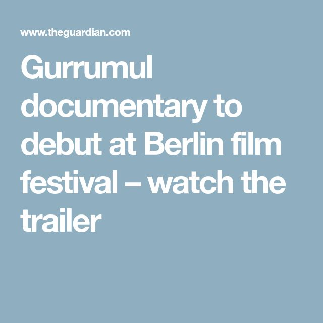 Gurrumul documentary to debut at Berlin film festival – watch the trailer