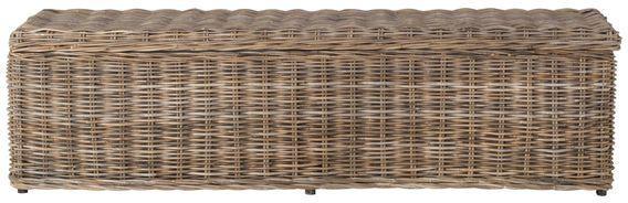 Safavieh Caius Wicker Bench With Storage