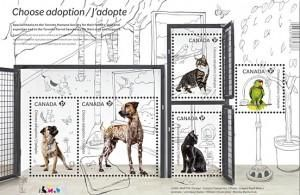 StampedeBeta - Stamp Profile - Canada Post encourages people to adopt pets! | World Stamp News