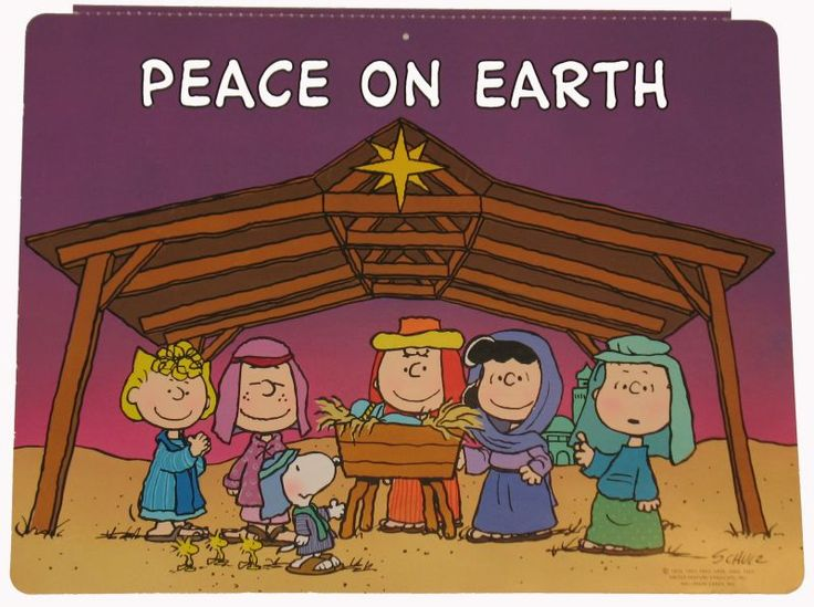 Peanuts Gang Nativity Wall Decor: Snoopn4pnuts.com