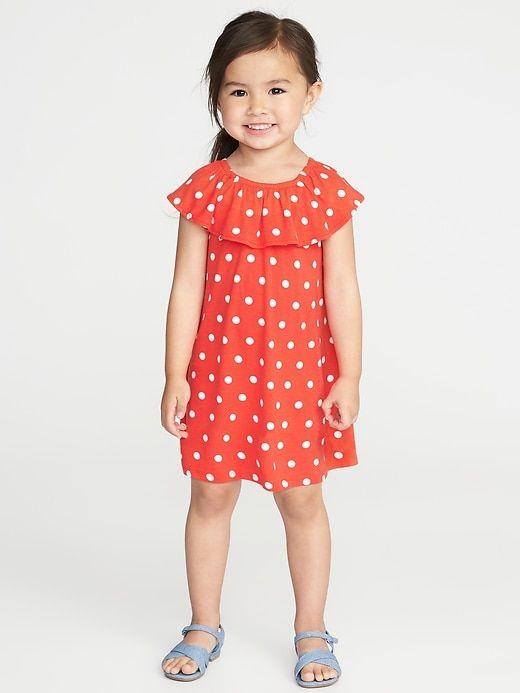 f9b232f06737 Ruffled Polka-Dot Jersey Dress for Toddler Girls   Alexandra Kate ...
