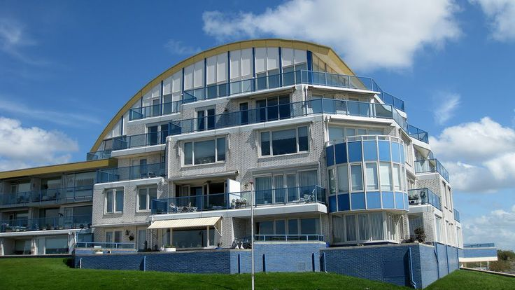 Katwijk, The Netherlands - Appartment-block at the South Boulevard