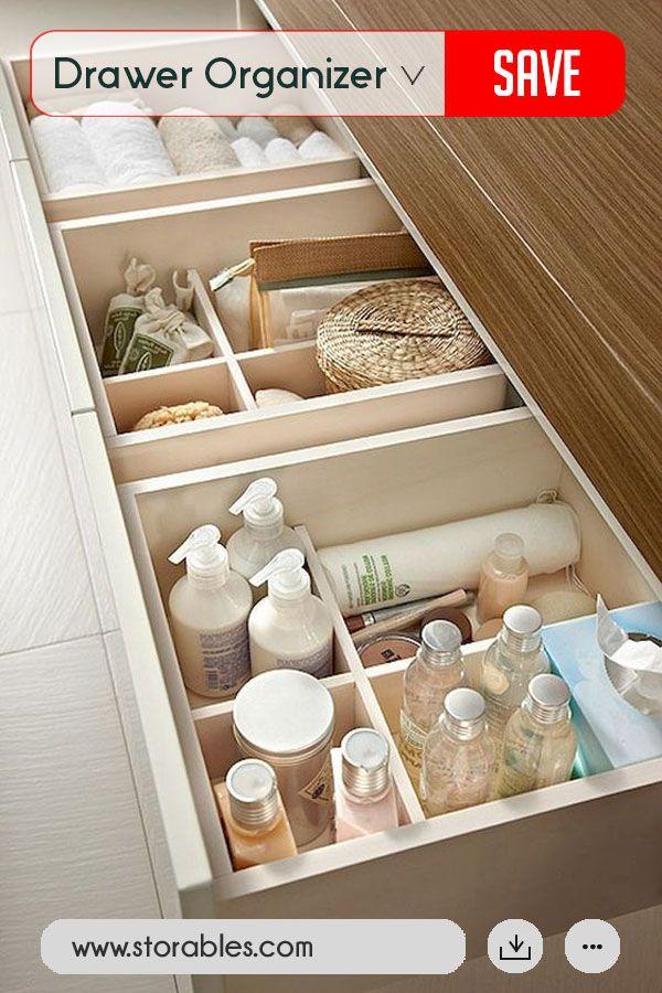 4 Compartment Drawer Organizer Small Bathroom Organization Bathroom Storage Bathroom Organization