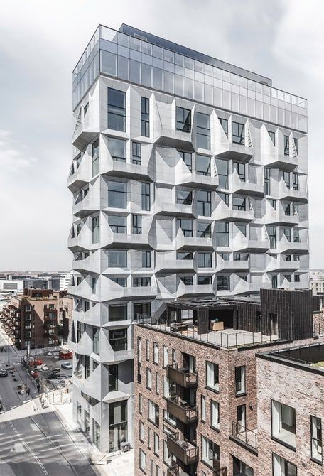 #Architecture: Industrial silo turned into high-rise apartment building
