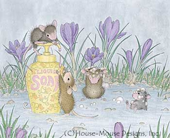 """Monica, Mudpie, Maxwell, Muzzy and Amanda"" from House-Mouse Designs® featured on the The Daily Squeek® for February 5th, 2013. Click on the image to see it on a bunch of really ""Mice"" products."