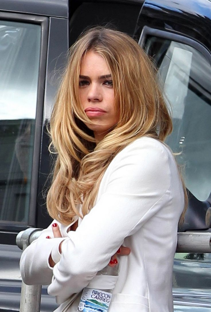 Billie Piper on the set of the Secret Diary of a Call Girl.