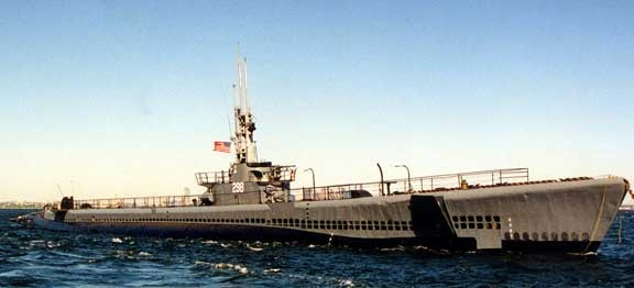 USS Lionfish SS 298, a Balao Class submarine originally launched by Portsmouth Naval Shipbuilding from Kittery, Maine in 1943.