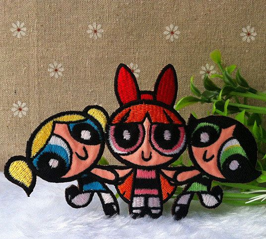 The Powerpuff Girls Logo iron on patch E037 by happysupply on Etsy, $3.10