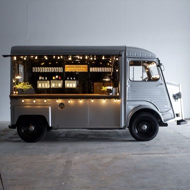 The Union Co. Wine truck is a great idea and very cool looking.