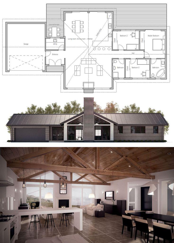 17 best images about planovi kuca house plans on for Ranch home progetta planimetrie
